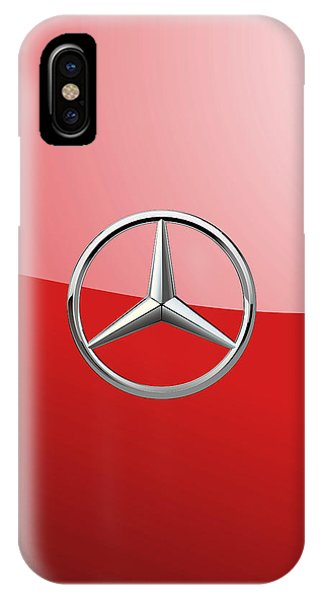 Mercedes-benz - 3d Badge On Red IPhone Case