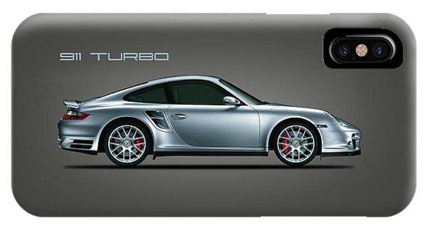 Classic Cars iPhone Case - Porsche 911 Turbo by Mark Rogan