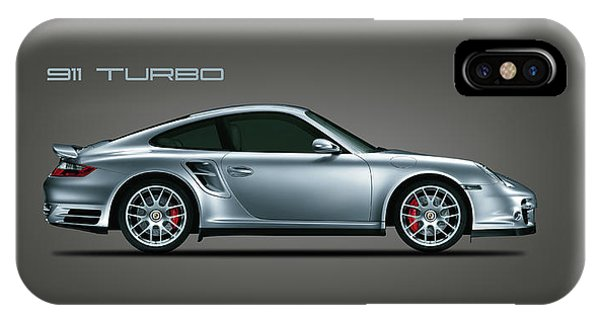 Car iPhone X Case - Porsche 911 Turbo by Mark Rogan