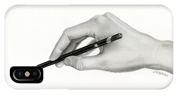 Hyper Realism iPhone Case - The Artist's Hand by Sarah Batalka
