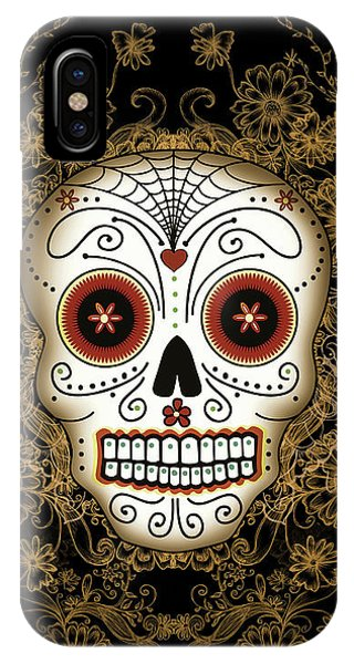 Vintage Sugar Skull IPhone Case