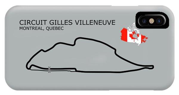 Circuit Gilles Villeneuve IPhone Case