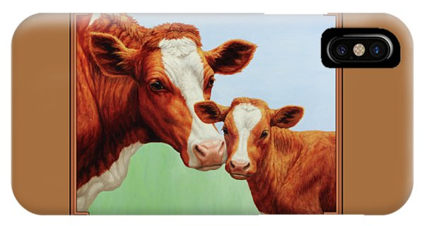 Cow iPhone X Case - Cream And Sugar by Crista Forest