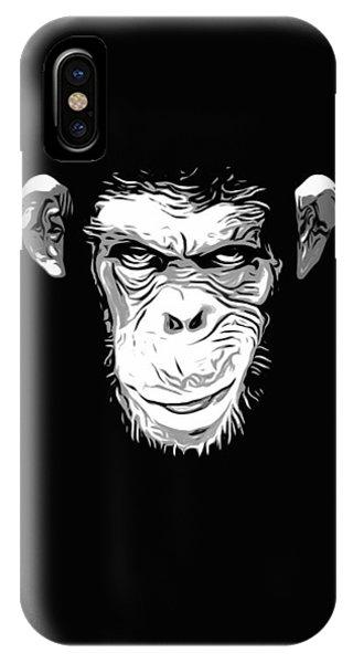 Chimpanzee iPhone Case - Evil Monkey by Nicklas Gustafsson
