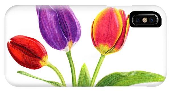 White Tulip iPhone Case - Tulip Trio by Sarah Batalka