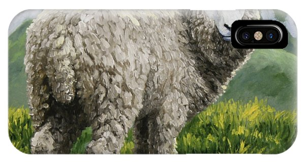 Farm iPhone Case - Highland Ewe by Crista Forest