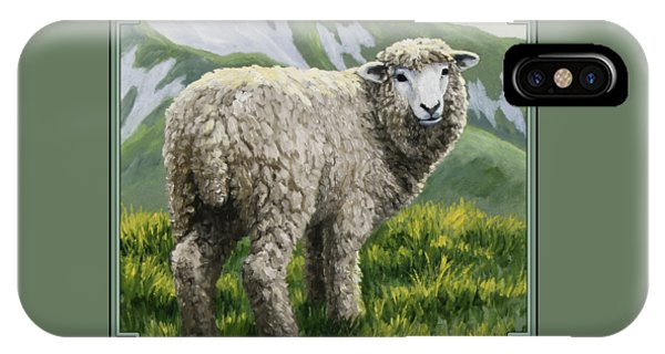 Sheep iPhone X / XS Case - Highland Ewe by Crista Forest