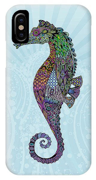 Electric Gentleman Seahorse IPhone Case