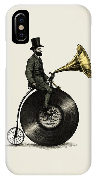 Cycling iPhone Case - Music Man by Eric Fan