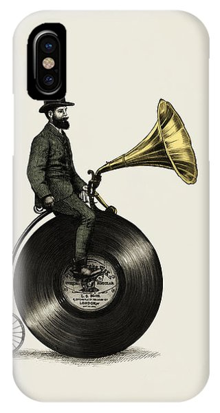 Vintage iPhone Case - Music Man by Eric Fan