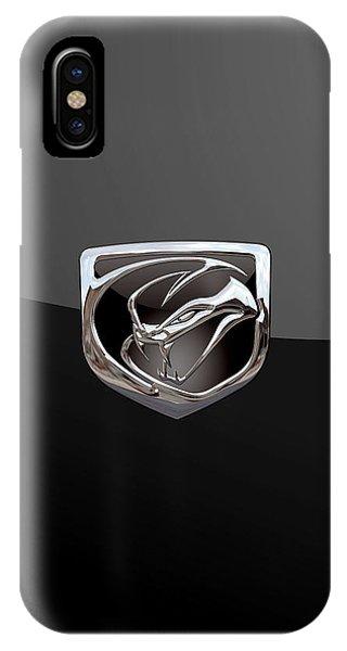 Dodge Viper - 3d Badge On Black IPhone Case