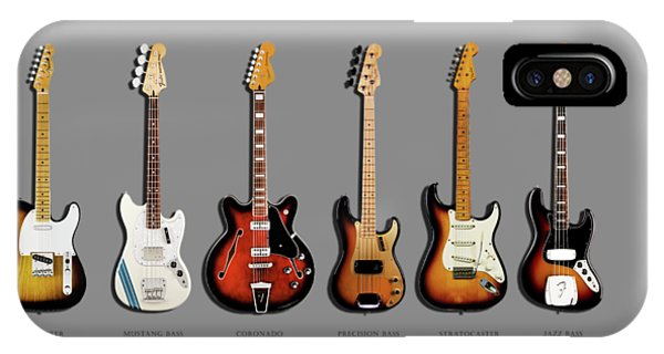 Electric Guitar iPhone Case - Fender Guitar Collection by Mark Rogan