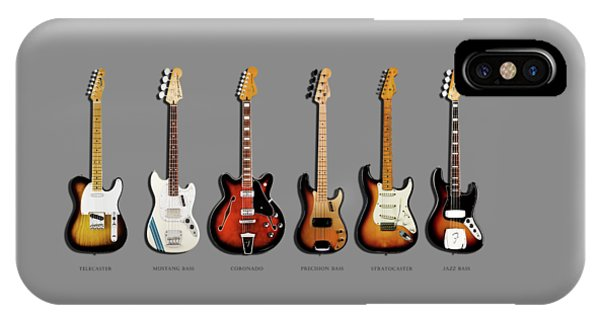 Music iPhone X Case - Fender Guitar Collection by Mark Rogan