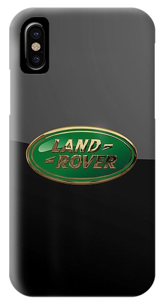 Land Rover - 3d Badge On Black IPhone Case