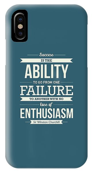 Celebration iPhone Case - Winston Churchill British Politician Typography Quote Poster by Lab No 4 - The Quotography Department