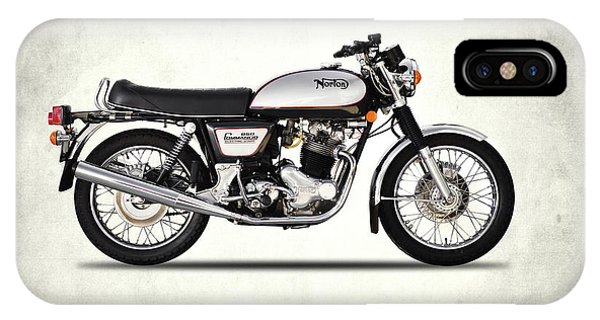 Vintage iPhone Case - Norton Commando 850 by Mark Rogan