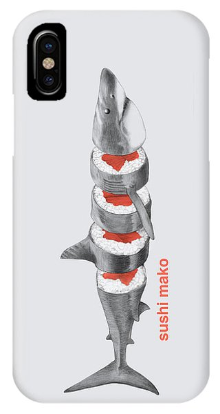 Great White Shark iPhone Case - Sushi Mako by Eric Fan