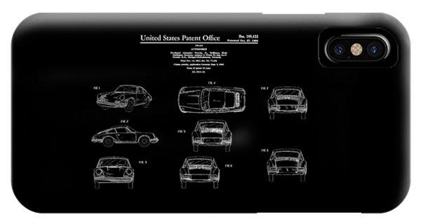 Classic Cars iPhone Case - Porsche 911 Patent by Mark Rogan