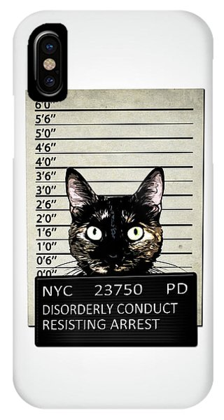 Pets iPhone Case - Kitty Mugshot by Nicklas Gustafsson