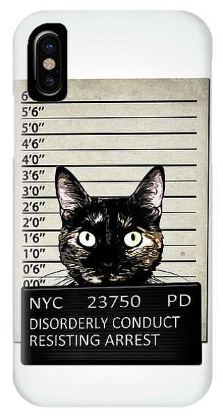 iPhone Case - Kitty Mugshot by Nicklas Gustafsson