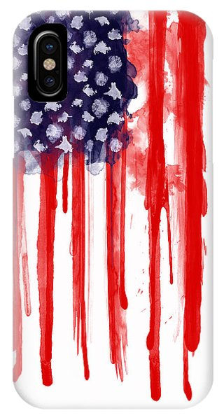 American iPhone Case - American Spatter Flag by Nicklas Gustafsson
