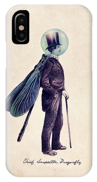 Insect iPhone Case - Inspector Dragonfly by Eric Fan