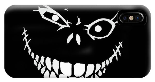 Skull iPhone Case - Crazy Monster Grin by Nicklas Gustafsson