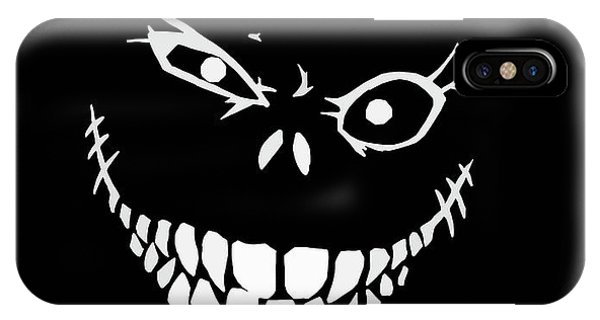 Bass iPhone Case - Crazy Monster Grin by Nicklas Gustafsson