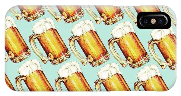 Festival iPhone Case - Beer Pattern by Kelly Gilleran