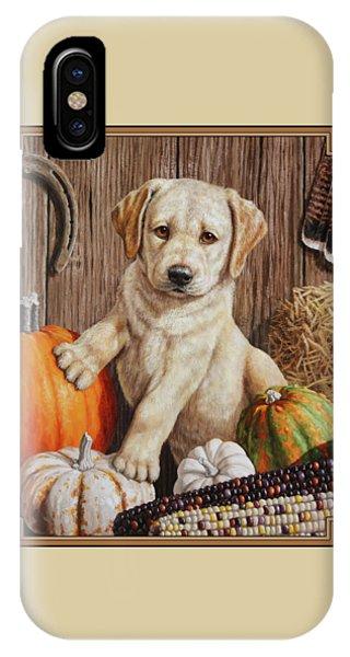 Pumpkin Puppy IPhone Case