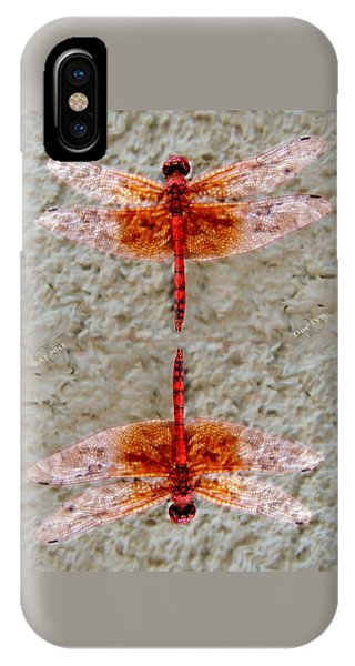 Flame Dragonfly  IPhone Case
