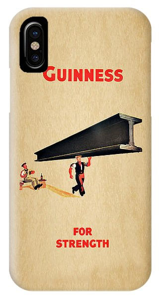 Menu iPhone Case - Guiness For Strength by Mark Rogan