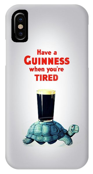Beverage iPhone Case - Guinness When You're Tired by Mark Rogan