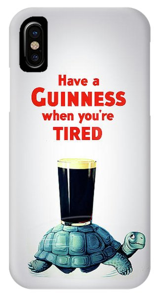 Menu iPhone Case - Guinness When You're Tired by Mark Rogan