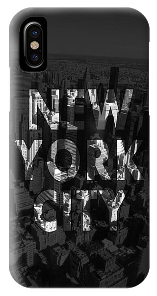 Office iPhone Case - New York City - Black by Nicklas Gustafsson