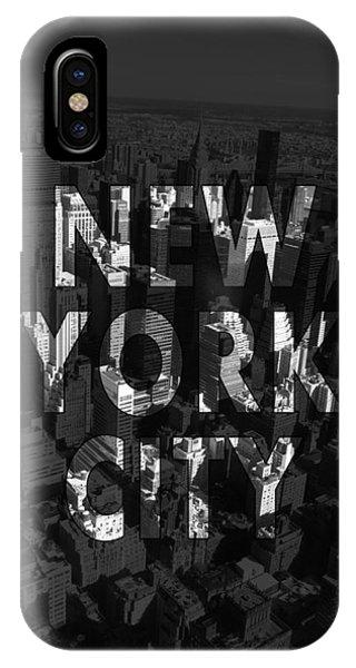 New York City - Black IPhone Case