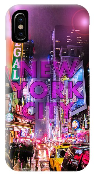Neon iPhone Case - New York City - Color by Nicklas Gustafsson