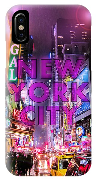 Broadway iPhone Case - New York City - Color by Nicklas Gustafsson