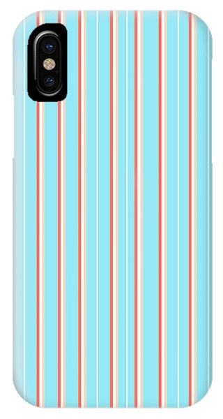 Pastel Colors iPhone Case - Blue Stripe Pattern by Christina Rollo