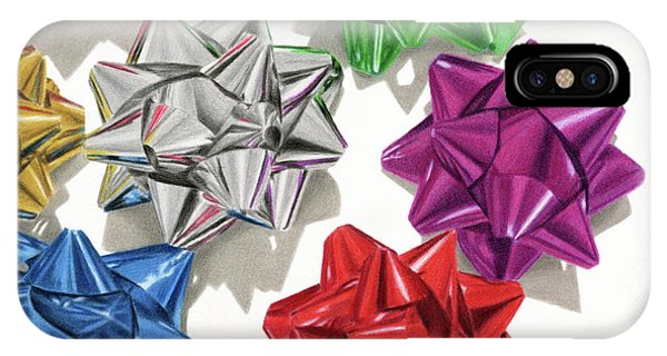 Hyper Realism iPhone Case - Christmas Bows And Shadows by Sarah Batalka