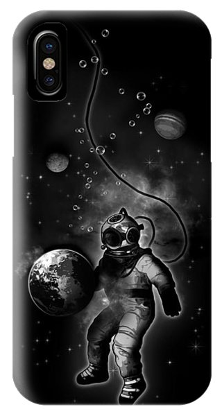 Deep Sea Space Diver IPhone Case