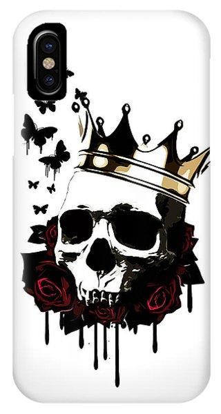 Skull iPhone Case - El Rey De La Muerte by Nicklas Gustafsson
