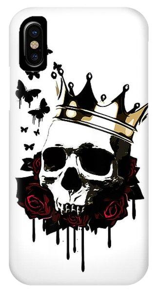 Rose iPhone X Case - El Rey De La Muerte by Nicklas Gustafsson