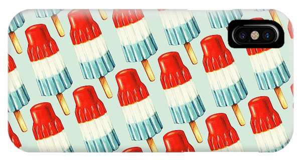 Cosmetic iPhone Case - Bomb Pop Pattern by Kelly Gilleran
