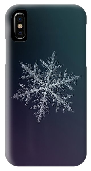 Abstract iPhone Case - Snowflake Photo - Neon by Alexey Kljatov