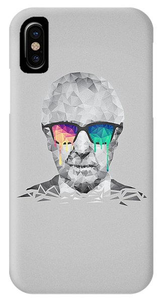 Albert Hofmann - Psychedelic Polygon Crystalised Portrait IPhone Case