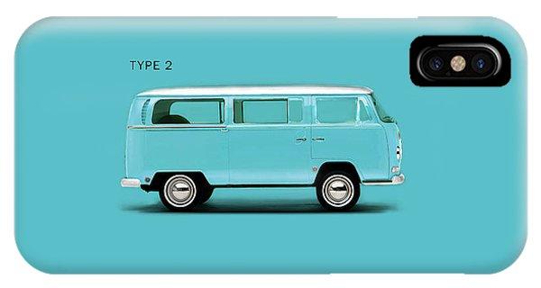 Volkswagen iPhone Case - Sky Blue Type 2 by Mark Rogan