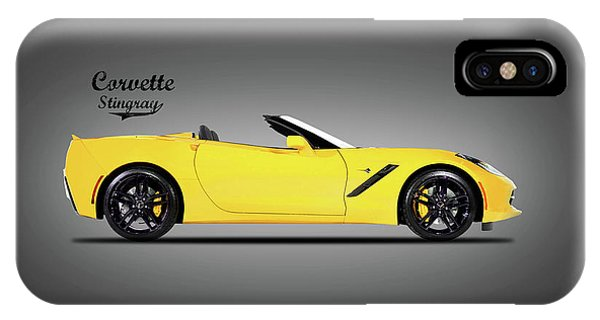 Coupe iPhone Case - Corvette In Yellow by Mark Rogan