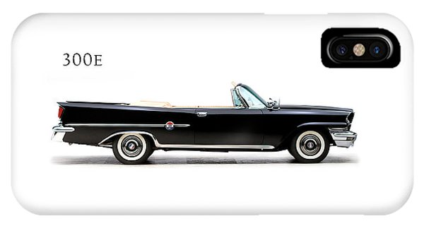 Car iPhone X Case - Chrysler 300e 1959 by Mark Rogan