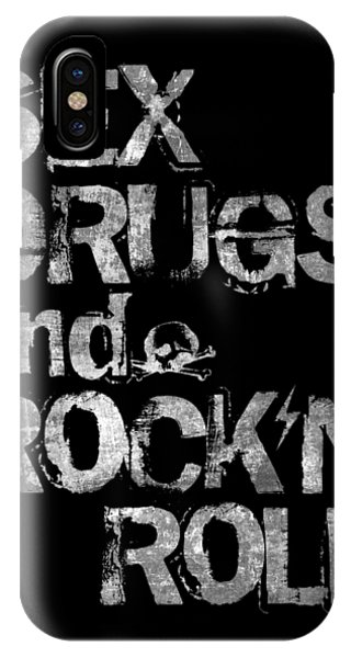 Rock And Roll Art iPhone Case - Sex Drugs And Rock N Roll by Zapista Zapista